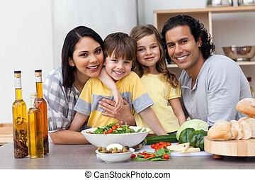 kuchnia, rodzinny portret