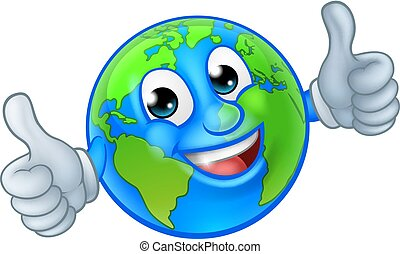 kula, litera, ziemia, świat, rysunek, maskotka