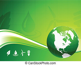 kula, tło, nautre, zielony