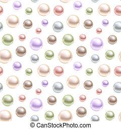 kulisty, różny, perły, seamless, tło., wektor, colors.