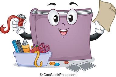 kunszty, książka, maskotka