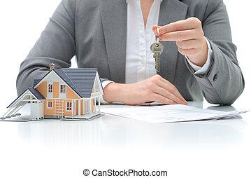 kupować, porozumienie, dom