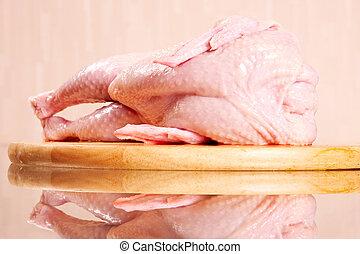 kura, surowy