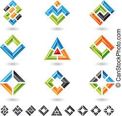 kwadraty, prostokąty, triangle
