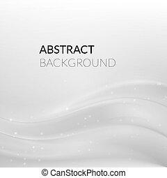 kwestia, abstrakcyjny, gładki, tło, biały, srebro