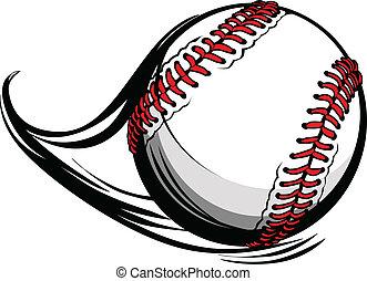 kwestia, ilustracja, ruch, wektor, baseball, softball, albo, ruch