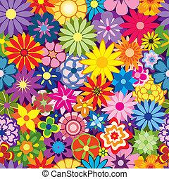 kwiat, barwny, tło