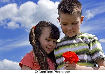 kwiat, dzieci