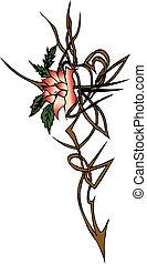 kwiat, symbol, tatoo