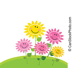 kwiat, szczęśliwy, wiosna, ogród