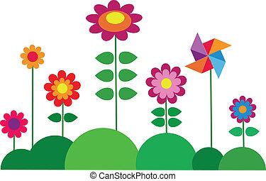 kwiat, wiosna, barwny