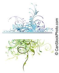 kwiatowa ozdoba, elementy, natura