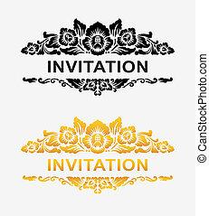 kwiatowa ozdoba, zaproszenie