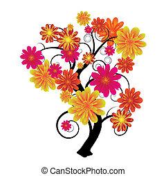 kwiatowy, drzewo
