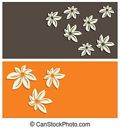 kwiatowy, karta, tło