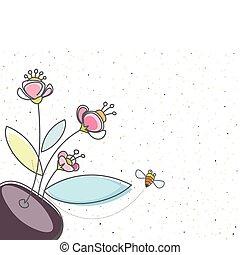 kwiatowy, pszczoła