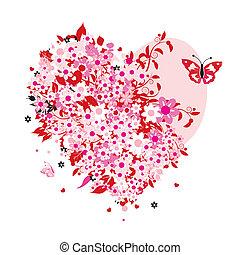 kwiatowy, sercowa forma