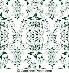 kwiatowy, tapeta, seamless, elegancki