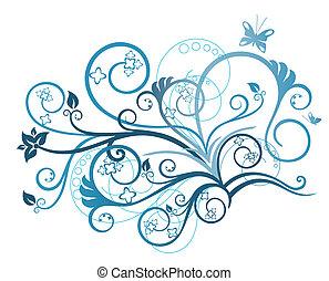 kwiatowy, turkus, zaprojektujcie element