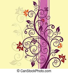 kwiatowy, wektor, projektować, ilustracja
