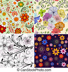 kwiatowy wzór, komplet, seamless