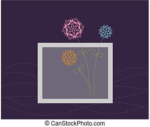 kwiatowy zamiar, powitanie karta