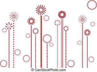 kwiaty, czerwony