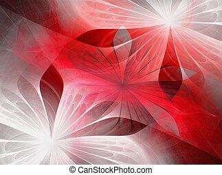 kwiaty, fractal, piękny