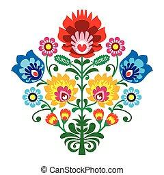 kwiaty, lud, haft