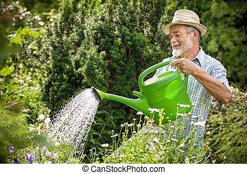 kwiaty, ogród, łzawienie