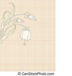 kwiaty, płótno, retro