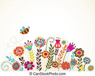 kwiaty, powitanie karta