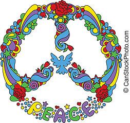 kwiaty, symbol pokoju