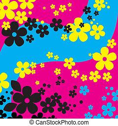 kwiaty, tło, (vector)