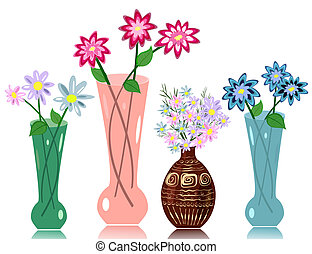 kwiaty, wazon