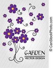 kwiaty, wektor, projektować, illustration.