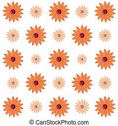 kwiaty, wektor, projektować, tło, ilustracja