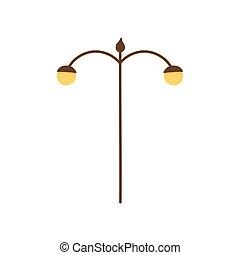 lampa, lekki, ikona, poczta, ulica