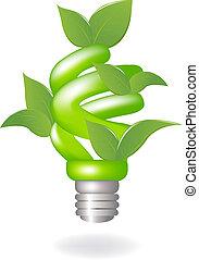 lampa, zielony