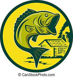 largemouth, fish, skokowy, bas