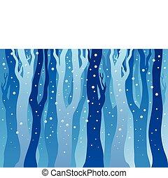 las, śnieg, zima