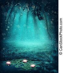 las, ciemny, magia