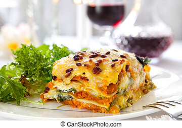 lasagne, wegetarianin
