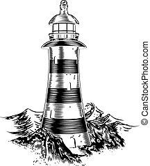 latarnia morska, trzęsie się