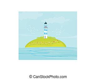 latarnia morska, wyspa