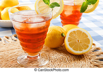 lato, chłodny, pije