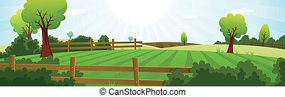 lato, gospodarka, rolnictwo, krajobraz