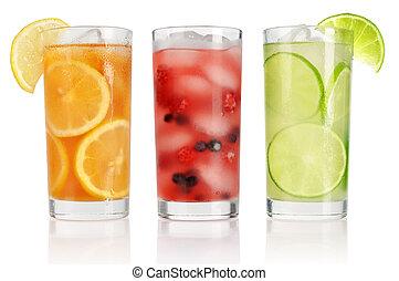 lato, lód, pije
