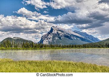 lato, landmark:, jeziora, vermilion, kanadyjczyk