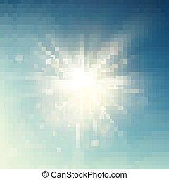 lato, promienie, pękać, słońce, flare., eps, soczewka, ciepły, szablon, wiosna, 10